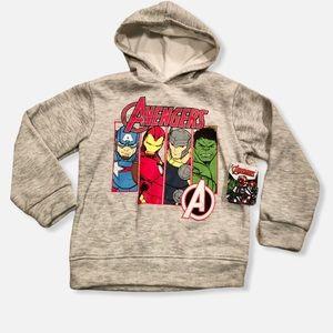 Marvel Avengers Boys Pullover Hooded Sweatshirt, 5